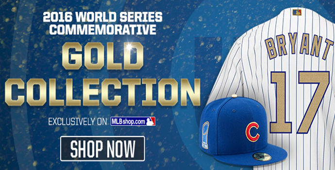 Chicago Cubs 2017 Gold Program Player Jersey