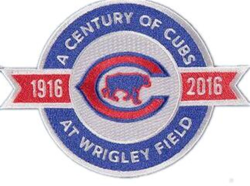 Chicago Cubs 100TH Anniversary Patch