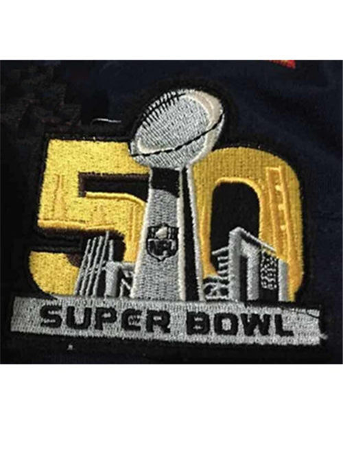 Super Bowl 50th Anniversary Patch