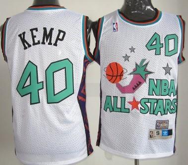 e9fb42126468 NBA Mitchell Ness Throwback Jersey 1995-1996 All-Star  40 Shawn Kemp White  Swingman