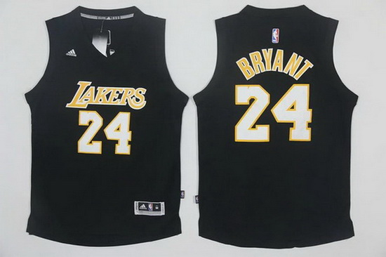 bbaf490c24a Men s Los Angeles Lakers  24 Kobe Bryant Black With White Stitched NBA  Adidas Revolution 30 Swingman Jersey