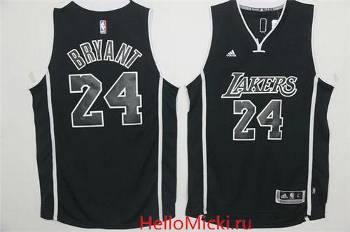 636b46c1b12 Men s Los Angeles Lakers  24 Kobe Bryant Black With Black Stitched NBA  Adidas Revolution 30 Swingman Jersey