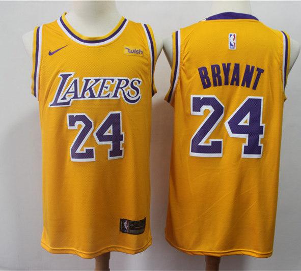 Men's Los Angeles Lakers #24 Kobe Bryant Nike Purple